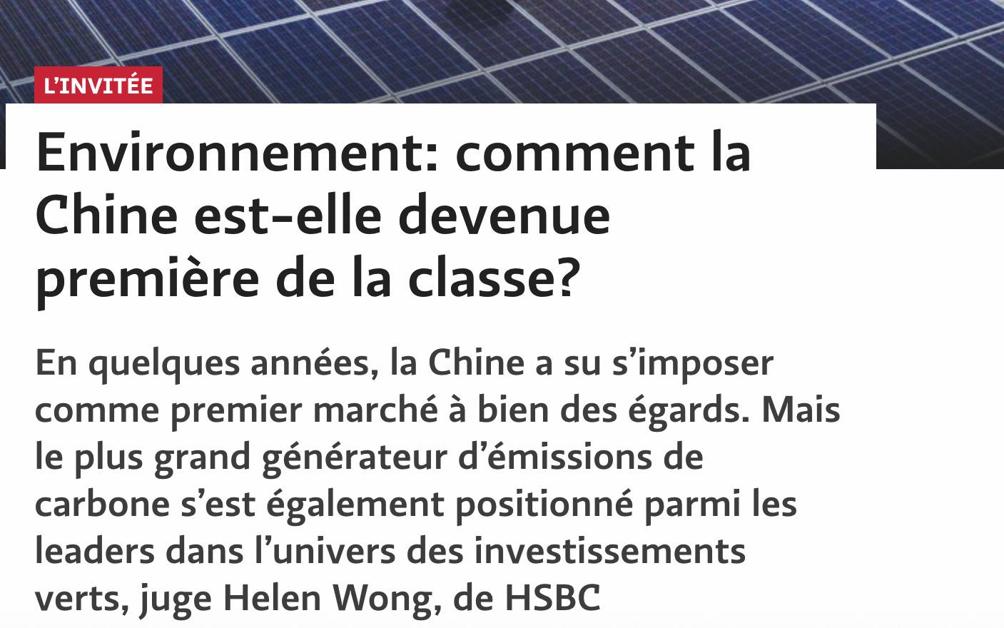 article Chine environnement