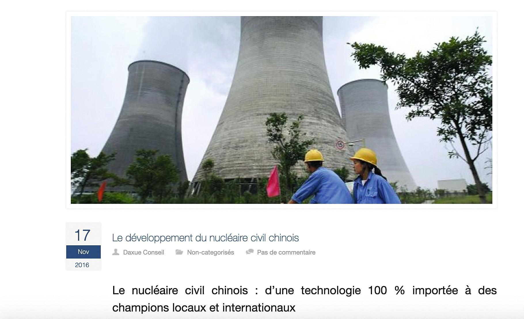 nucléaire en Chine