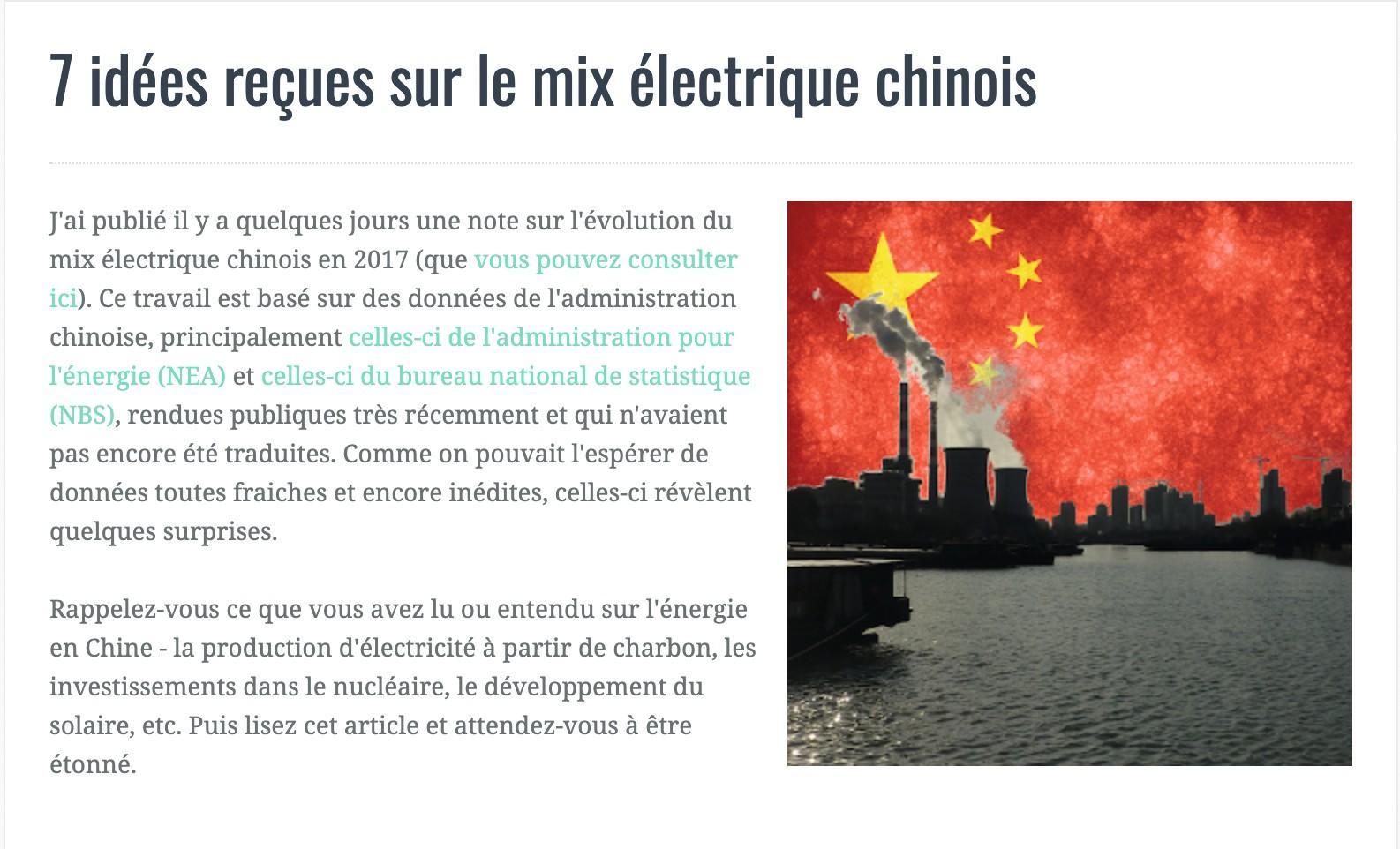 article 7 idées sur le mix électrique chinoix