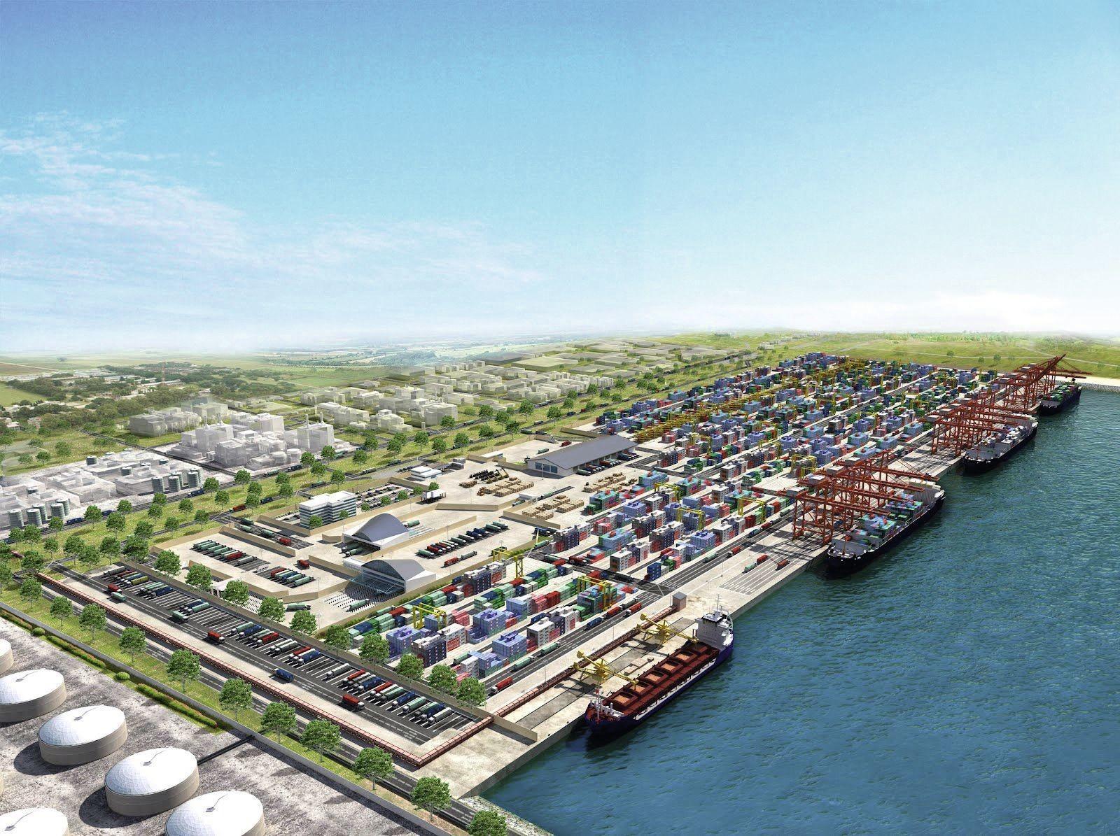 Ce port situé à 60 km au Sud‑est de Lagos, dans une zone franche urbaine, sera le plus grand port en eaux profondes d'Afrique