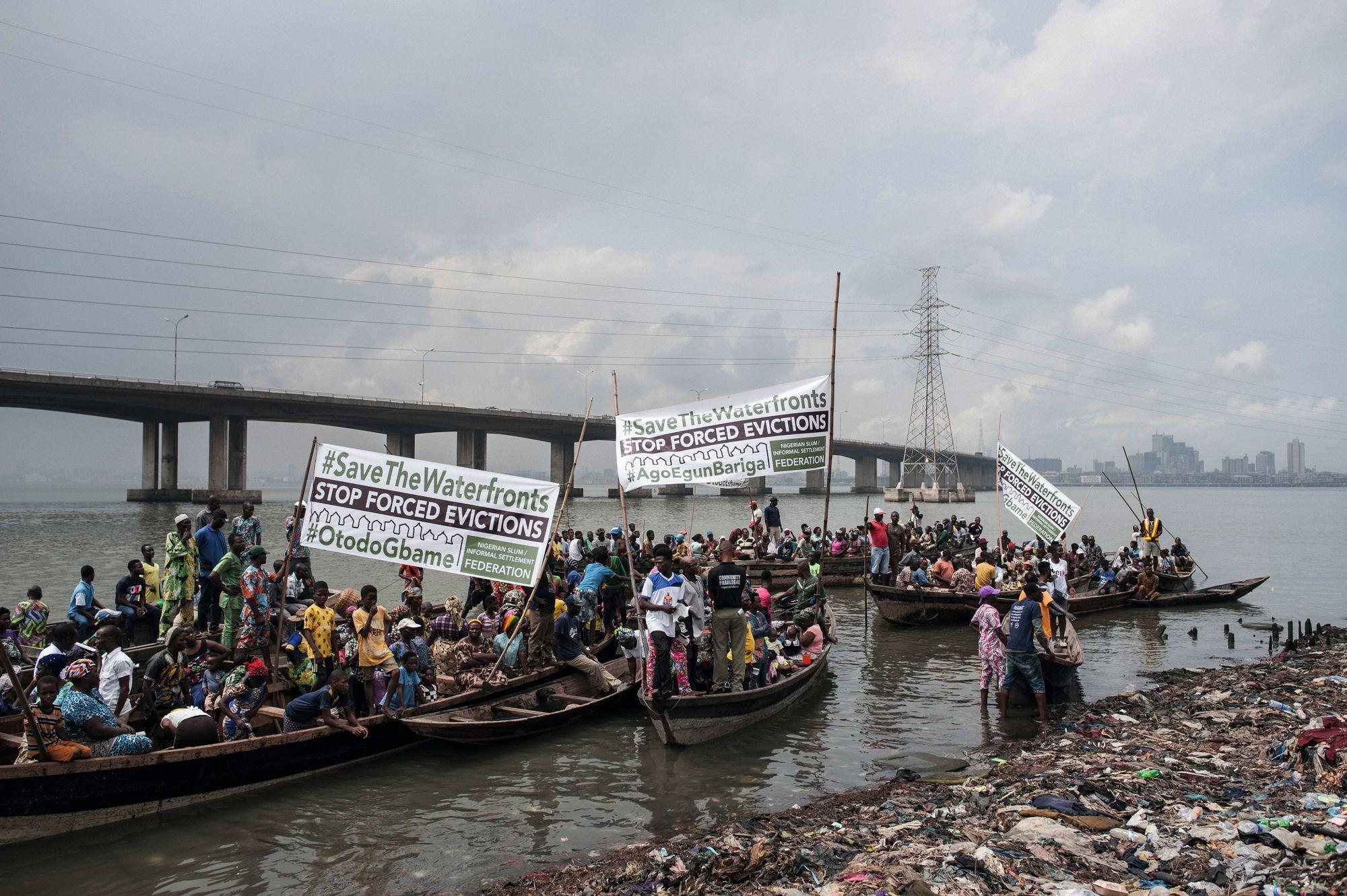 manifestation rénovation urbaine Lagos