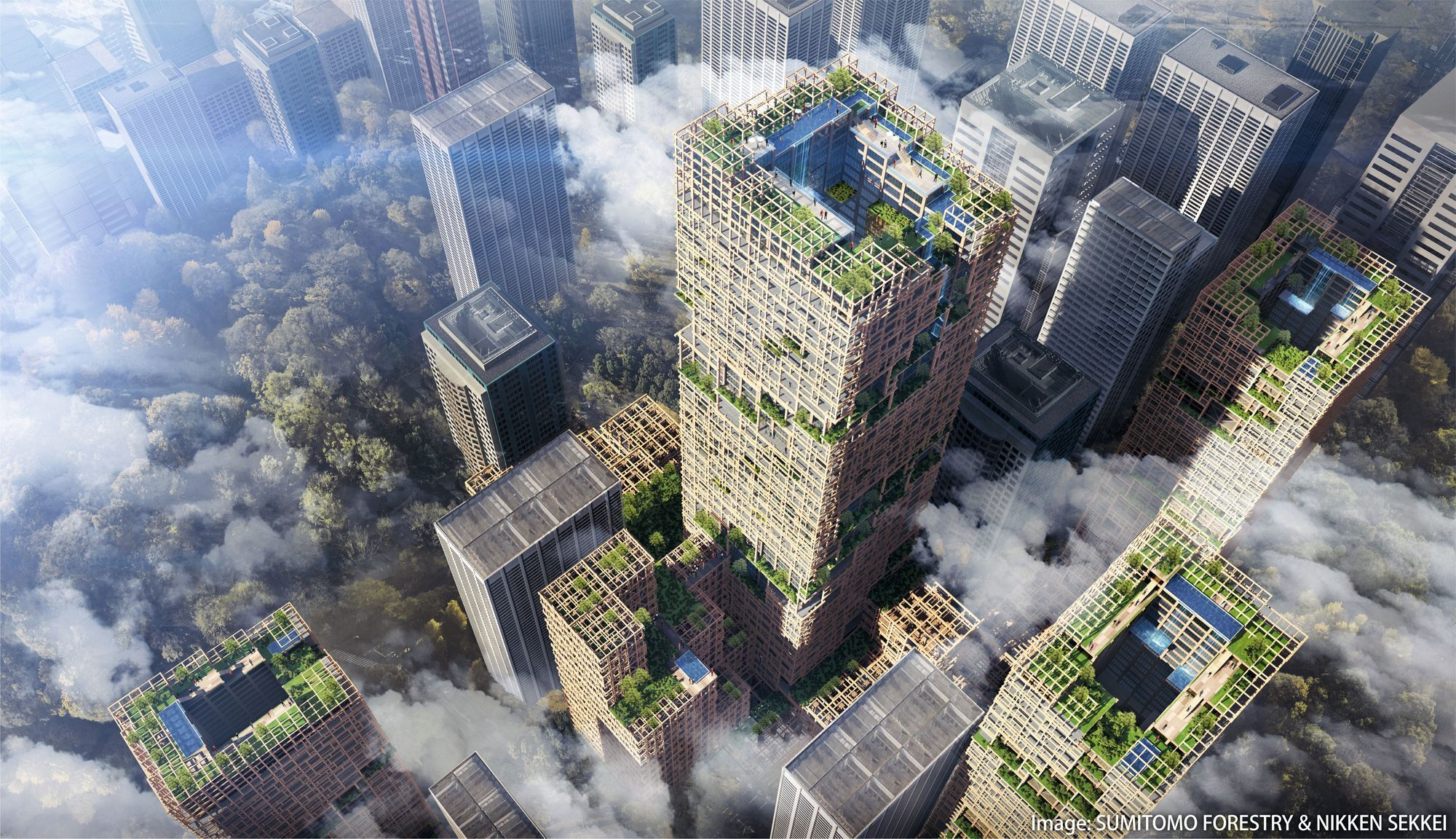 Le projet W350 : la plus haute tour en bois du monde