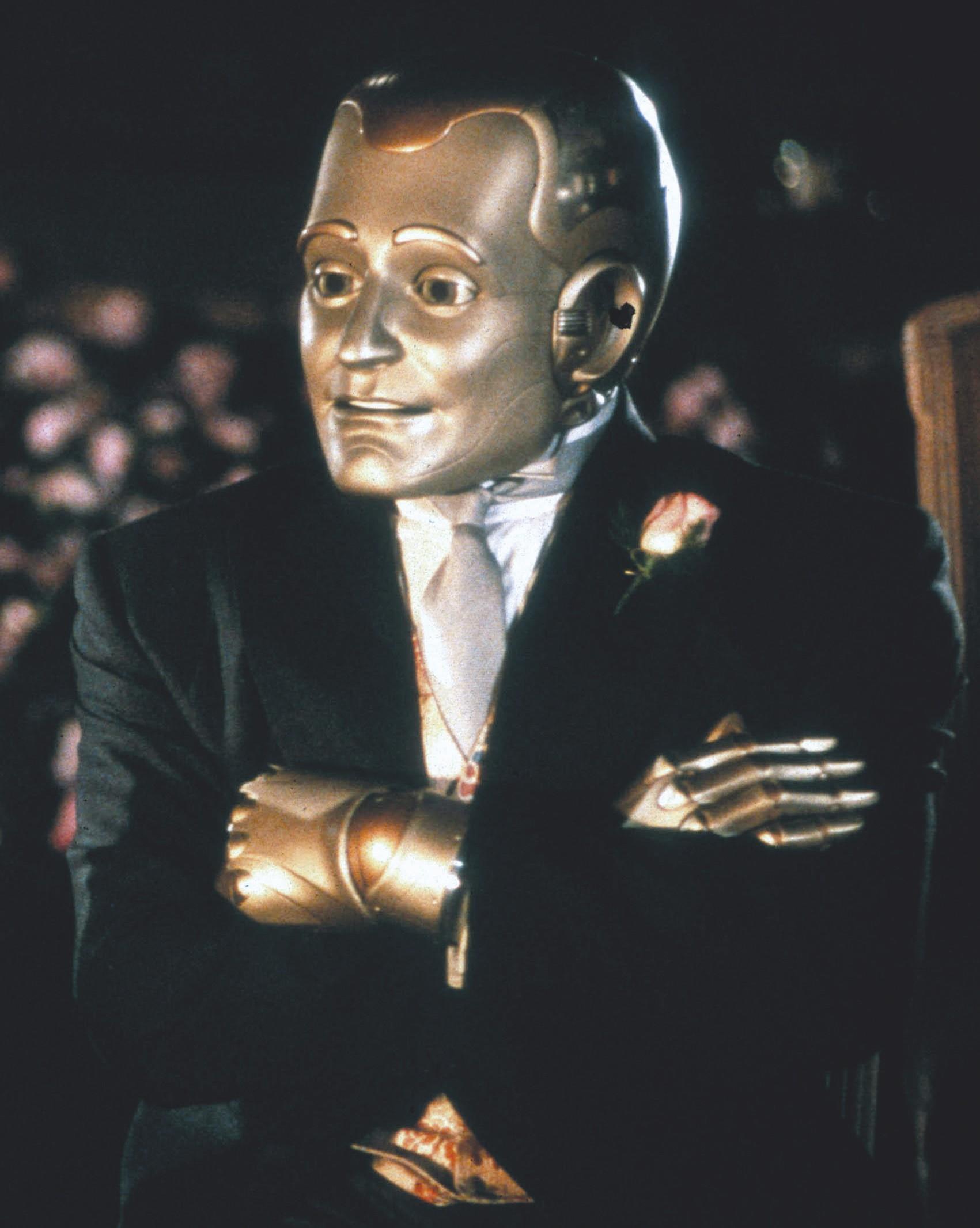 Robin Williams dans L'Homme bicentenaire, film de Chris Columbus, 1999, d'après la nouvelle éponyme d'Isaac Asimov