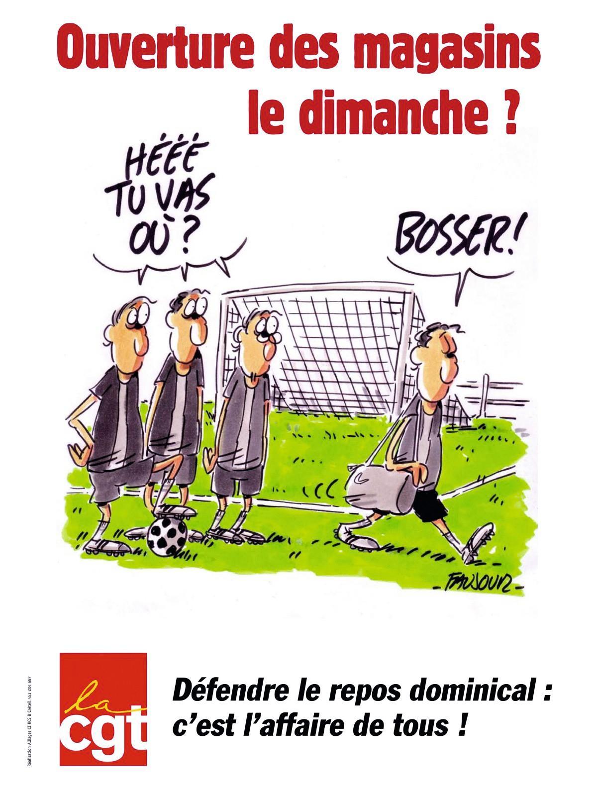 Tract de la CGT contre l'ouverture des Carrefour le dimanche, 2012