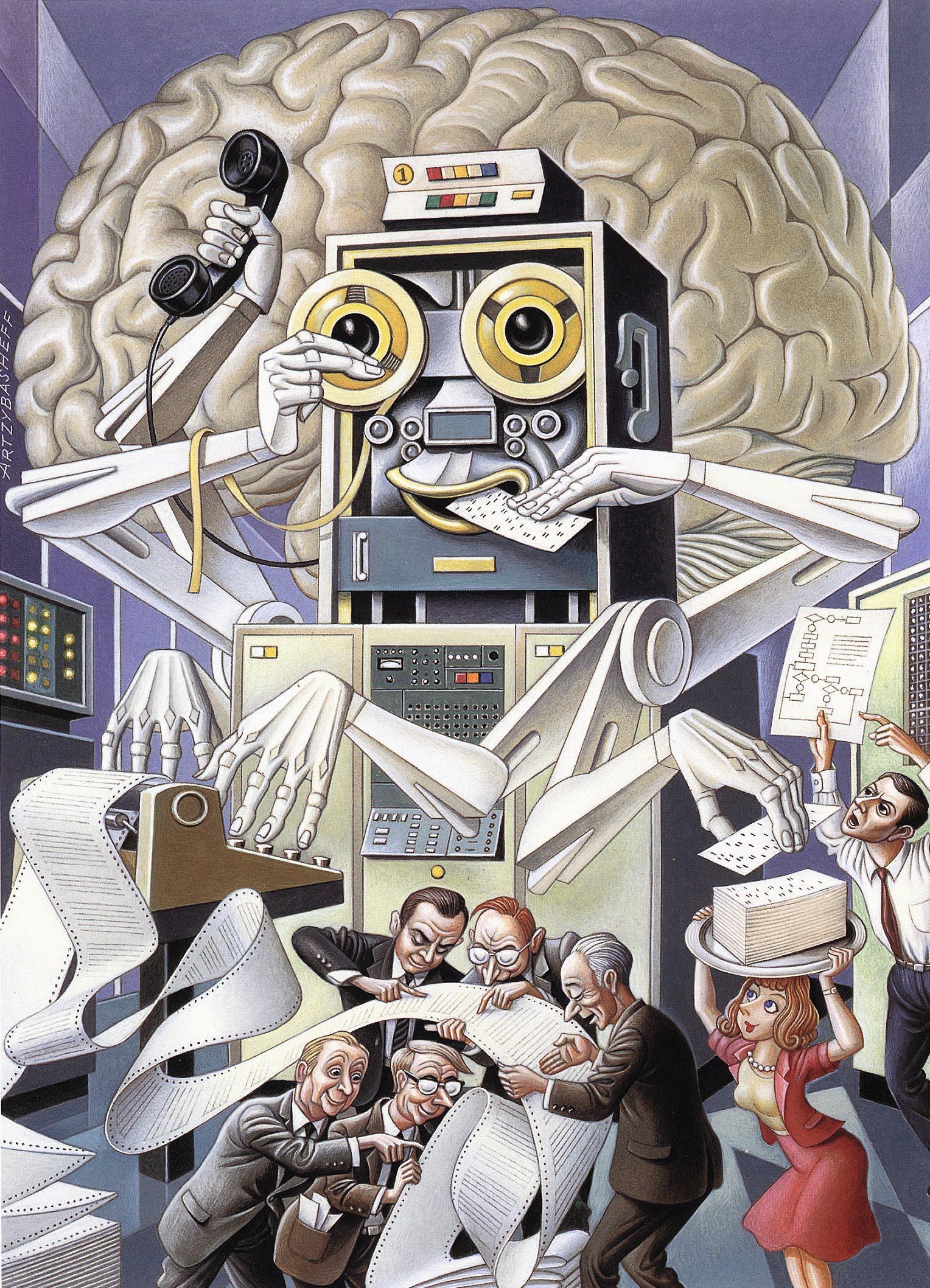 Visions de l'avenir, illustration, années 1950, États-Unis.