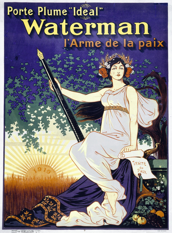 Publicité pour le porte‑plume Waterman