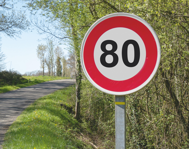 Panneau de limitation de vitesse
