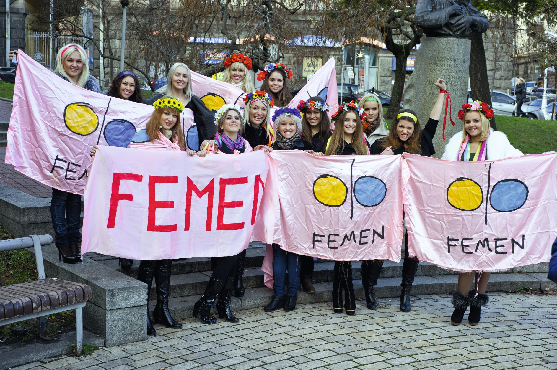 Groupe FEMEN, en 2010.