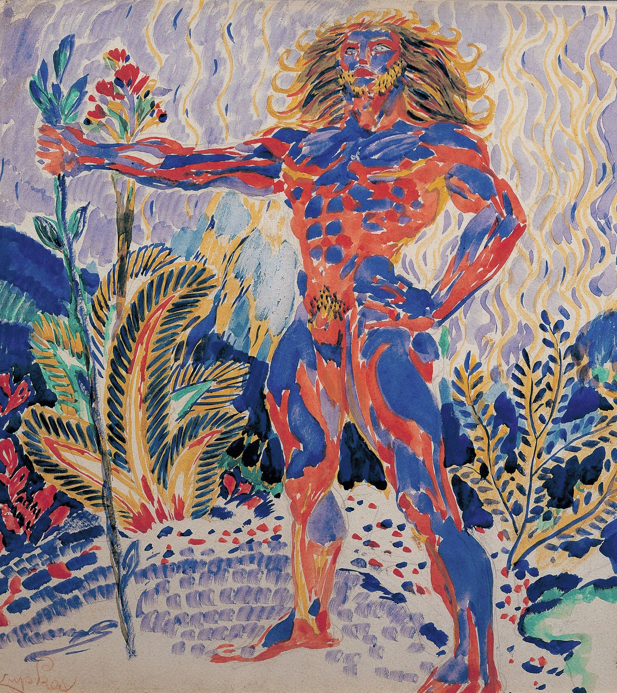 Frantisek Kupka, Prométhée bleu et rouge