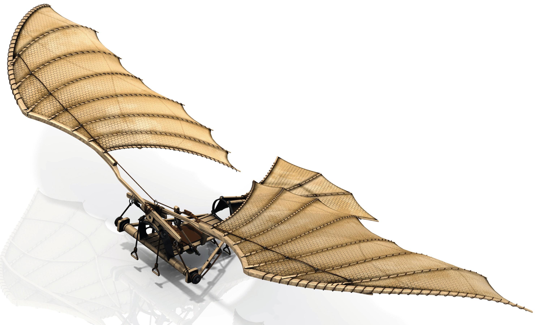 Ornithoptère conçu par Léonard de Vinci (1452 - 1519).