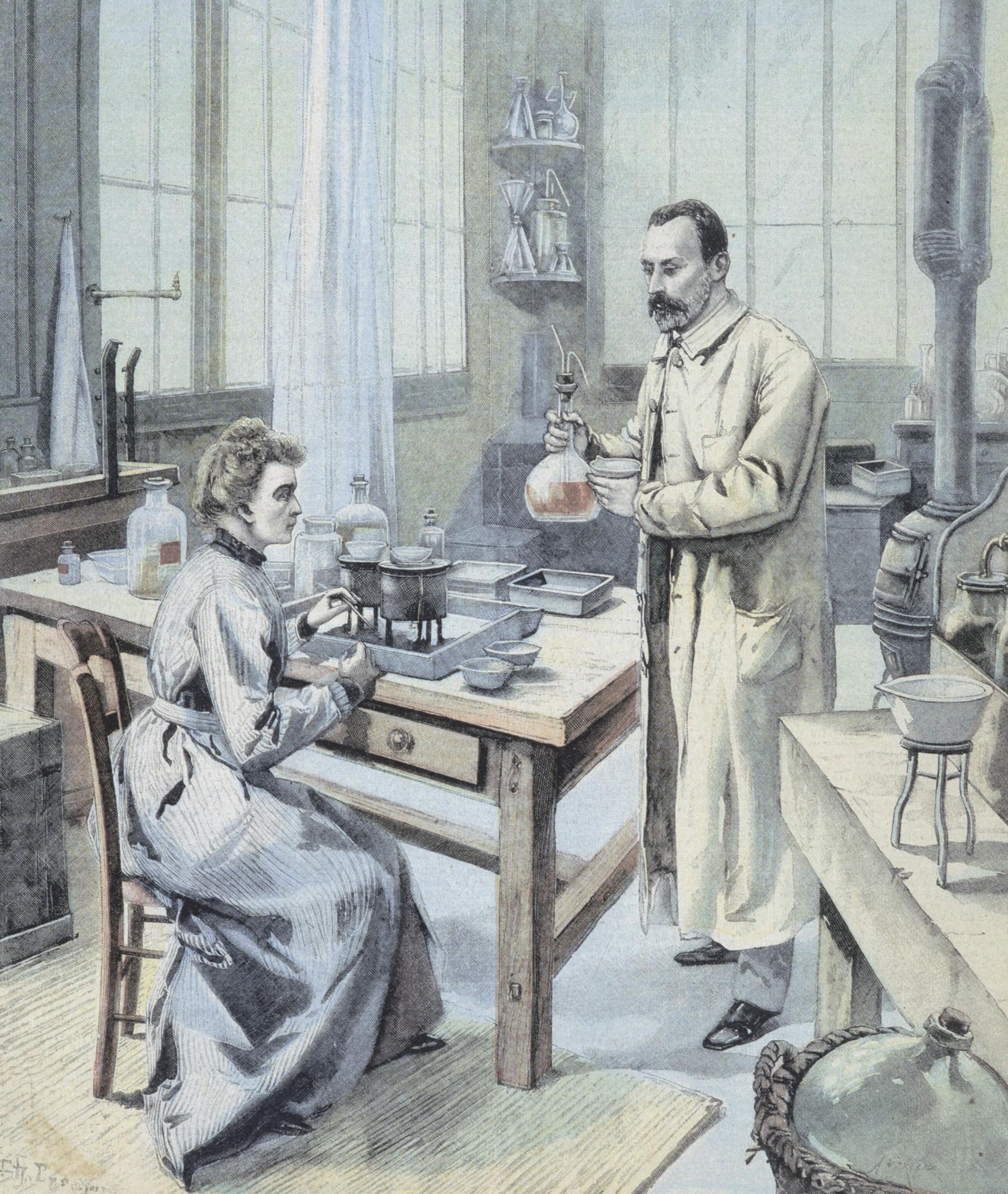 Marie et Pierre Curie, une du Petit Parisien
