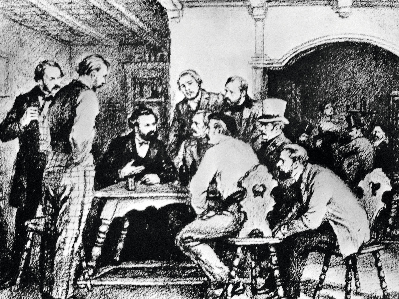 Karl Marx et Friedrich Engels, à Paris, en 1844