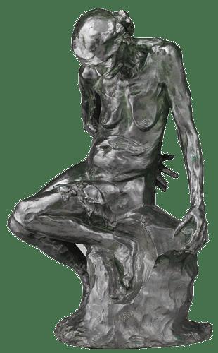 Auguste Rodin, Celle qui fut la belle heaulmière, 1884-87 (modèle), 1925 (fonte par Alexis Rudier), 50× 30× 26 cm, bronze, musée Rodin, Paris.