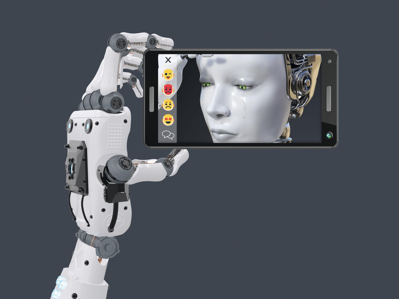 Lengua, Robots emocionales.