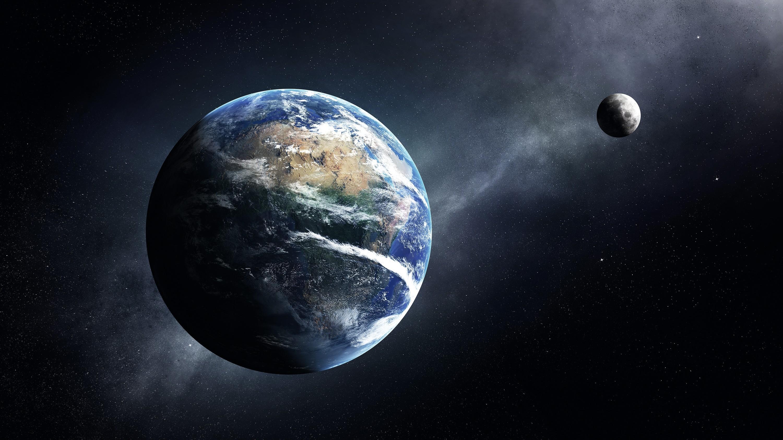 Lune s'éloigne de la terre