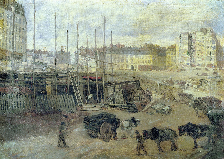 Giuseppe de Nittis (attribué à), Le Percement de l'Avenue de l'Opéra, musée Carnavalet, Paris, 1878.