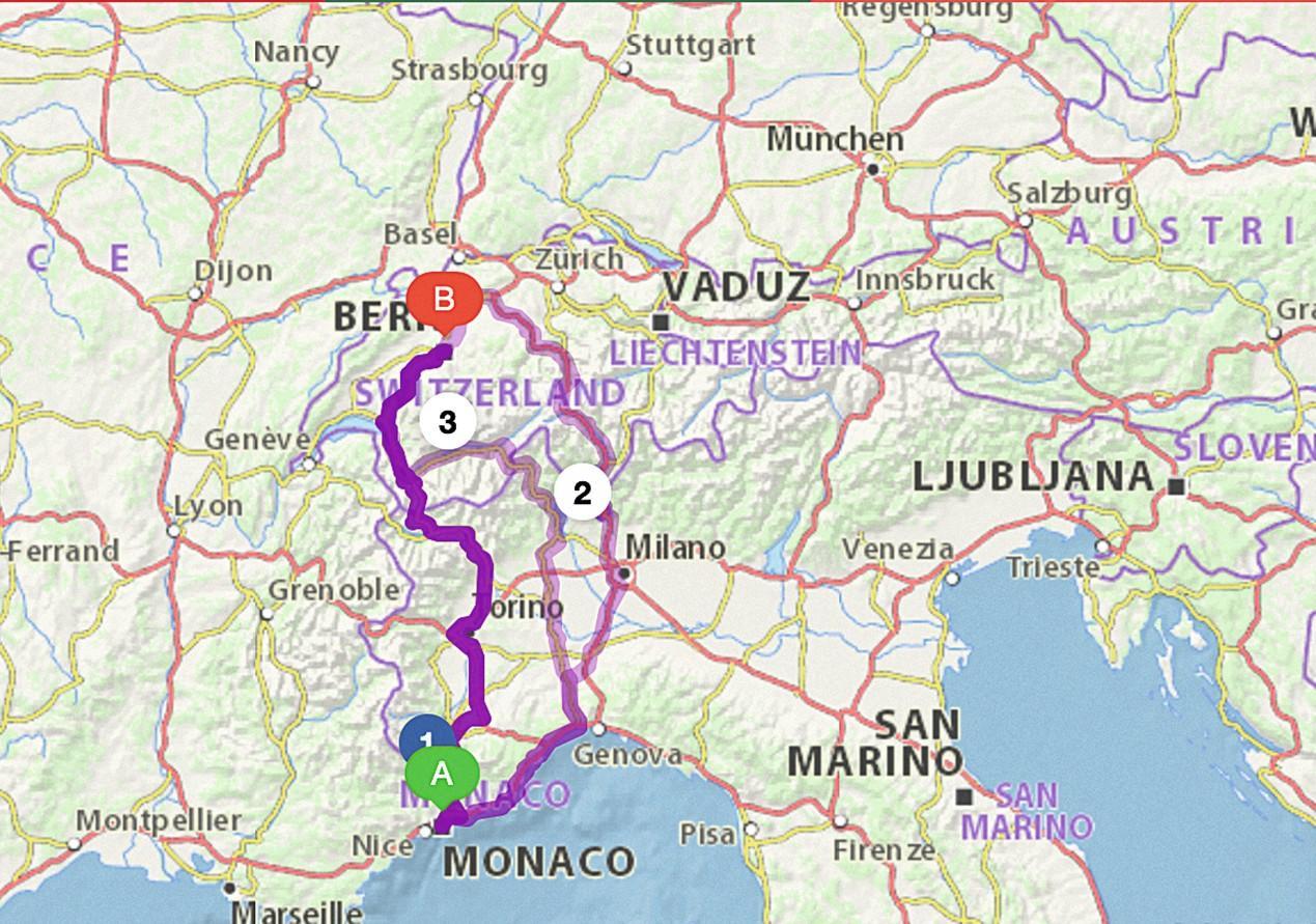 Coordonnées géographiques et itinéraire Michelin.