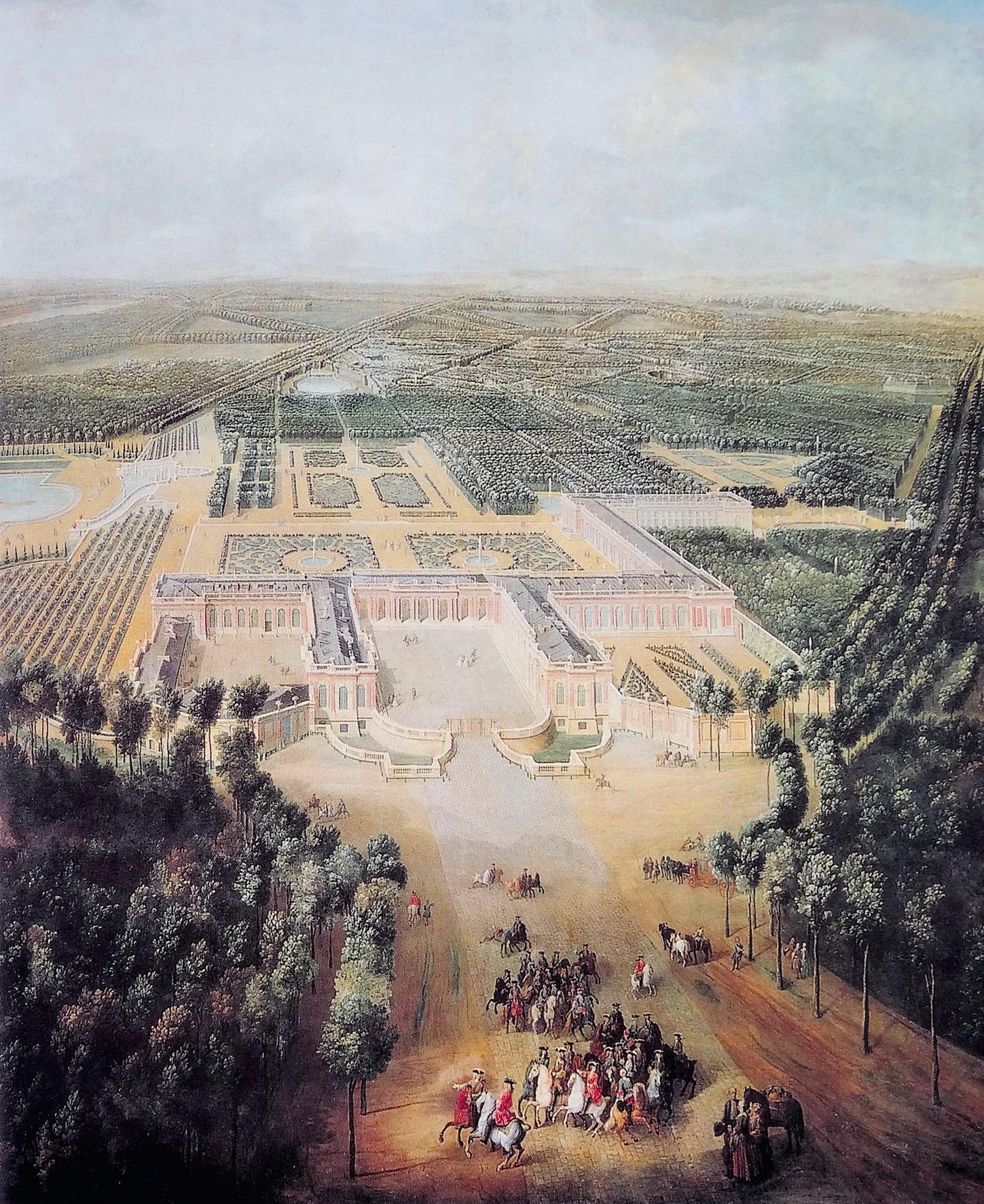Pierre-Denis Martin, Vue du grand Trianon prise du côté de l'avenue, vers 1724, huile sur toile, château de Versailles.