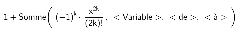 Approcher le cosinus d'un nombre