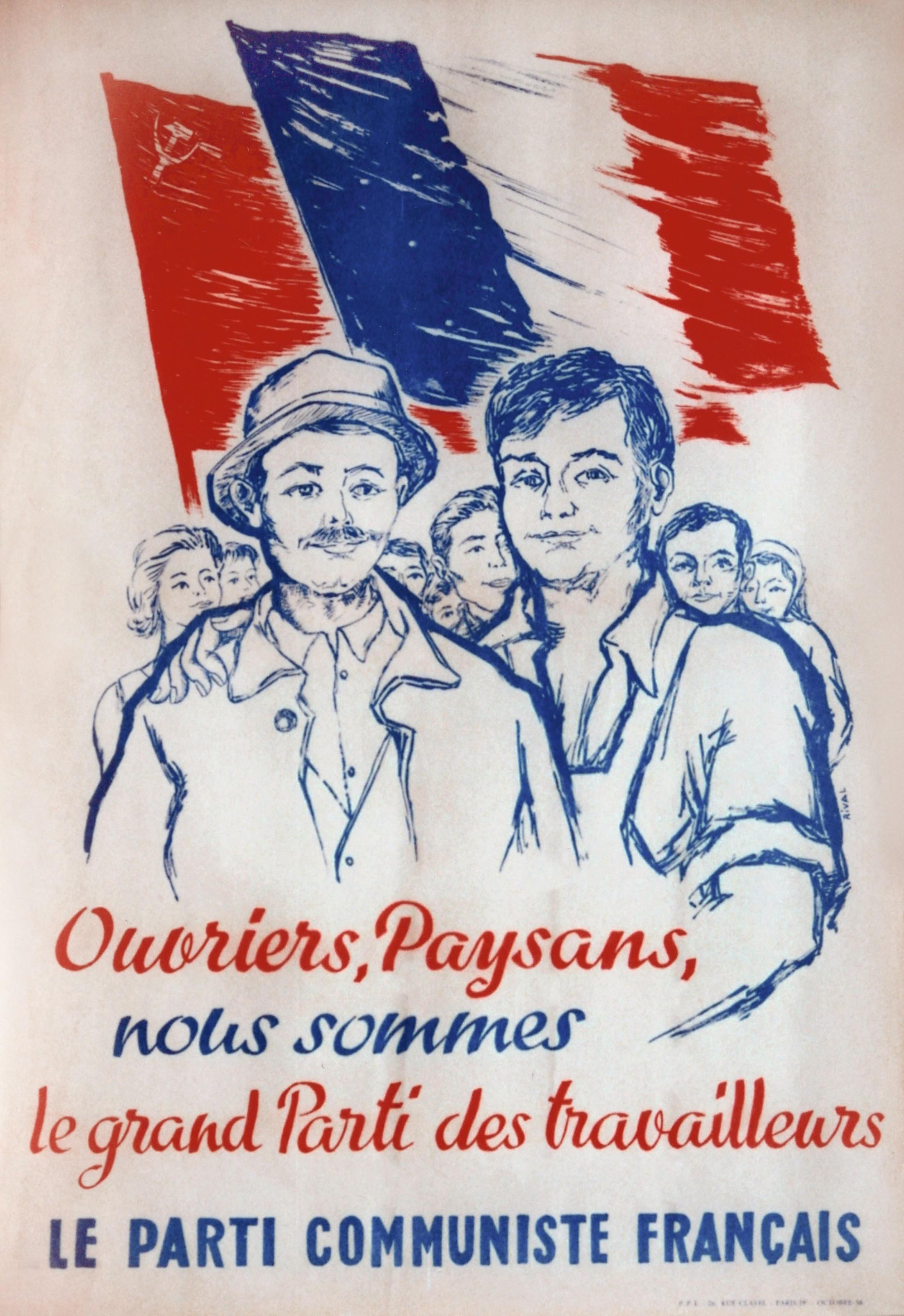 Affiche pour le Parti communiste français, 1958.