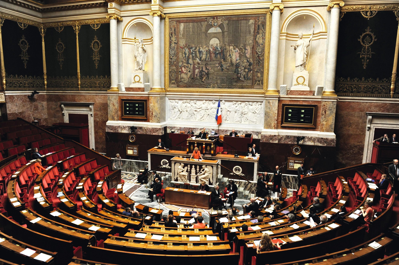 L'hémicycle de l'Assemblée nationale lors de la présentation d'un projet de loi, en 2013.