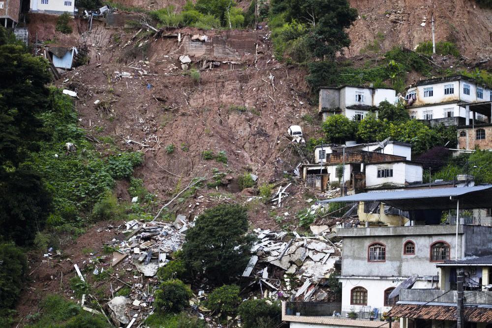 Un glissement de terrain au Brésil.