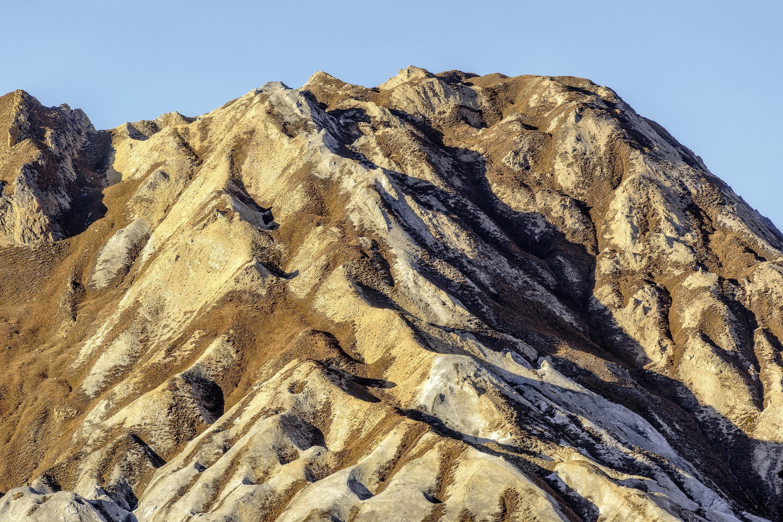 L'érosion d'un massif composé de gypse en Maurienne (Savoie).