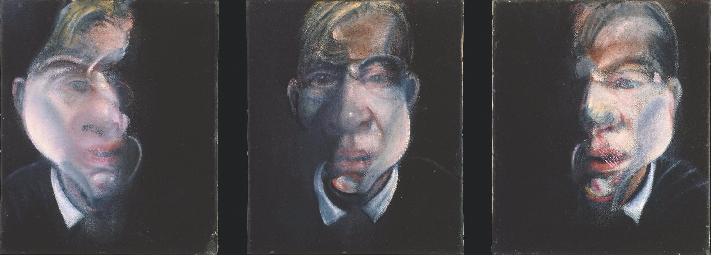 Francis Bacon, Trois études pour un autoportrait, 1979-80, huile sur toile, 37,5 × 31,8 cm, Metropolitan Museum of Art, New York.