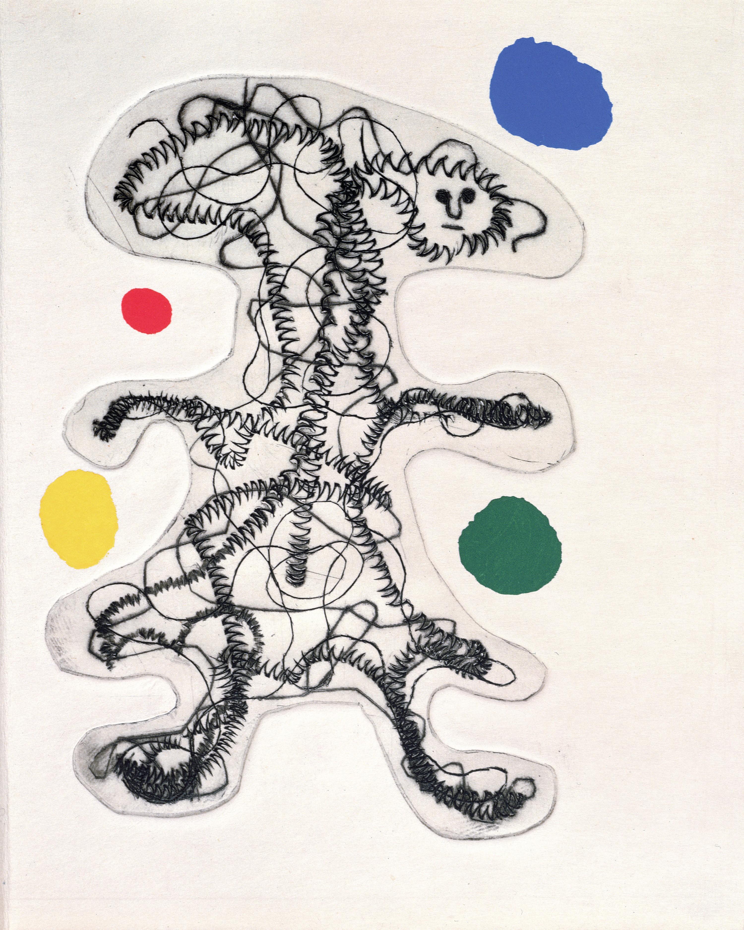 Joan Miró, Illustration pour Parler seul de Tristan Tzara, 1950, lithographie, Bibliothèque Jacques Doucet, France.