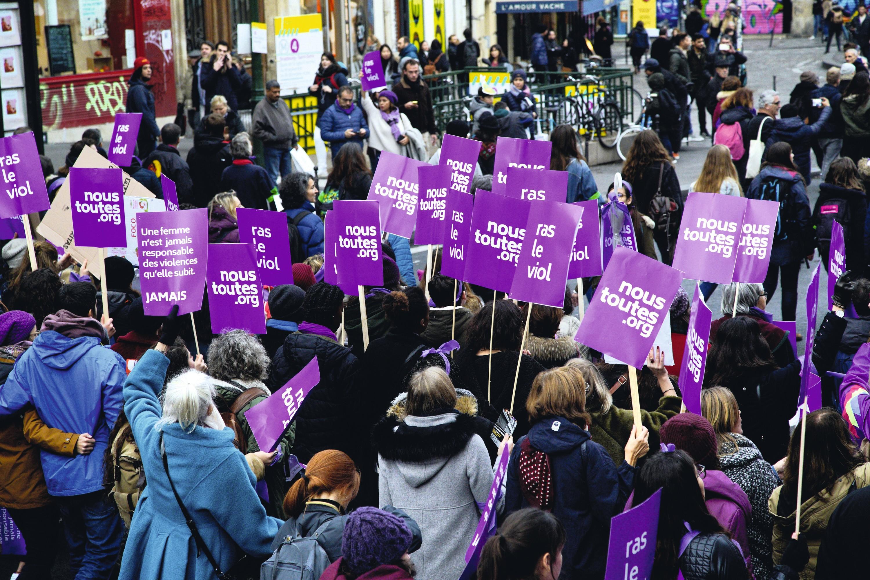 Manifestation à Paris, #NousToutes
