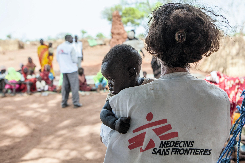 Une bénévole de l'ONG Médecins sans frontières