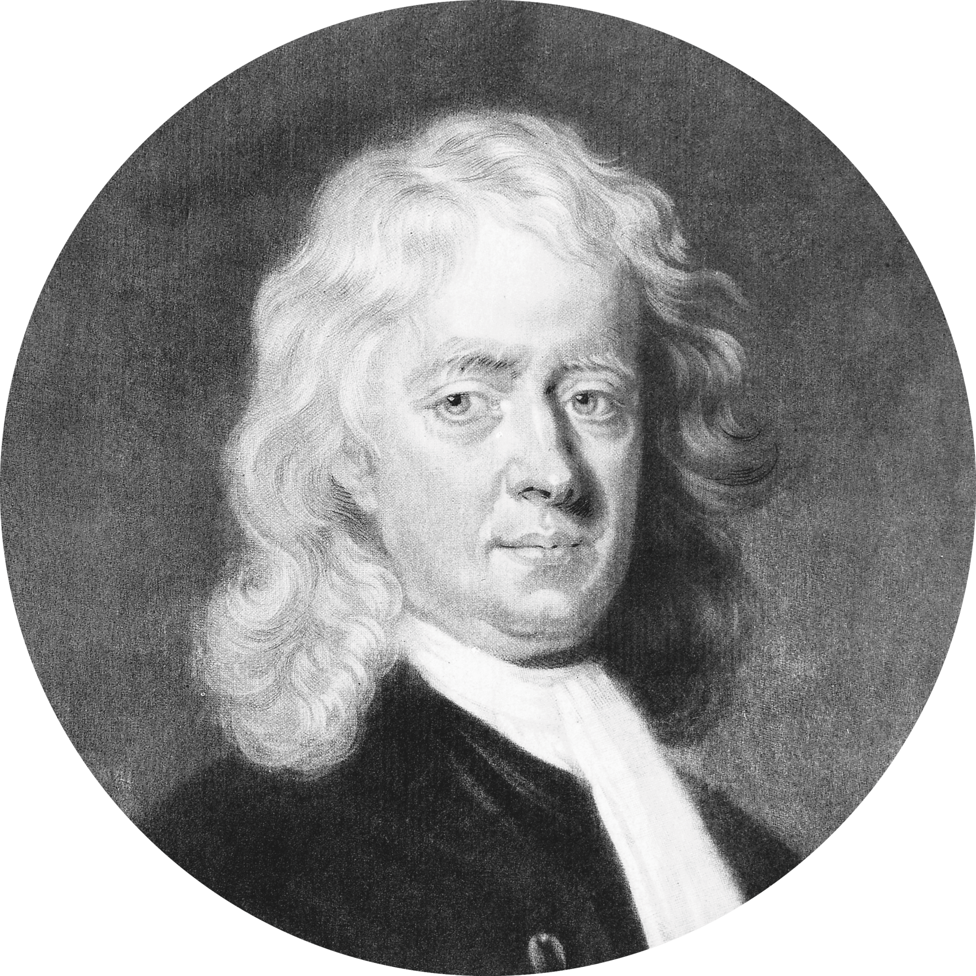 photo portrait de Newton