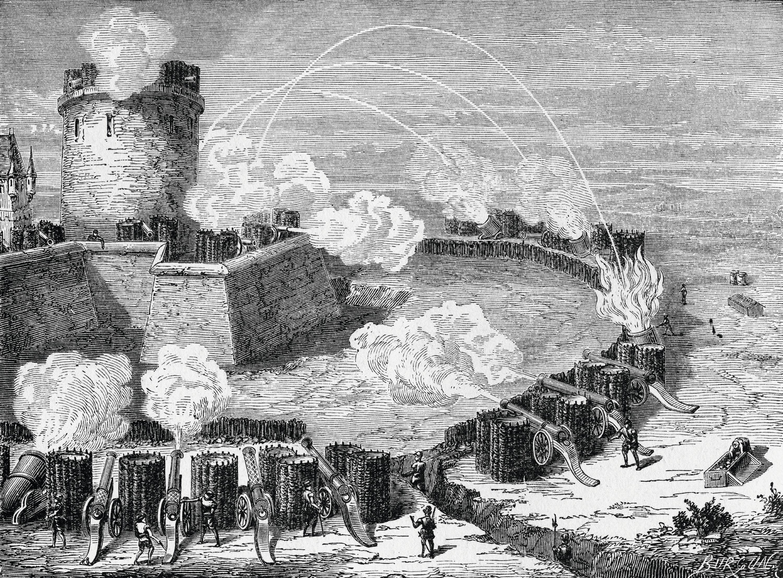 Siège d'un château fortifié