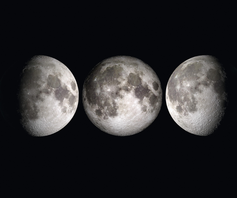 Premier quartier, pleine Lune et dernier quartier