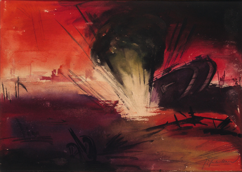 Fritz Fuhrken, Grenade frappant des chars pendant la bataille de la Somme, 1918.