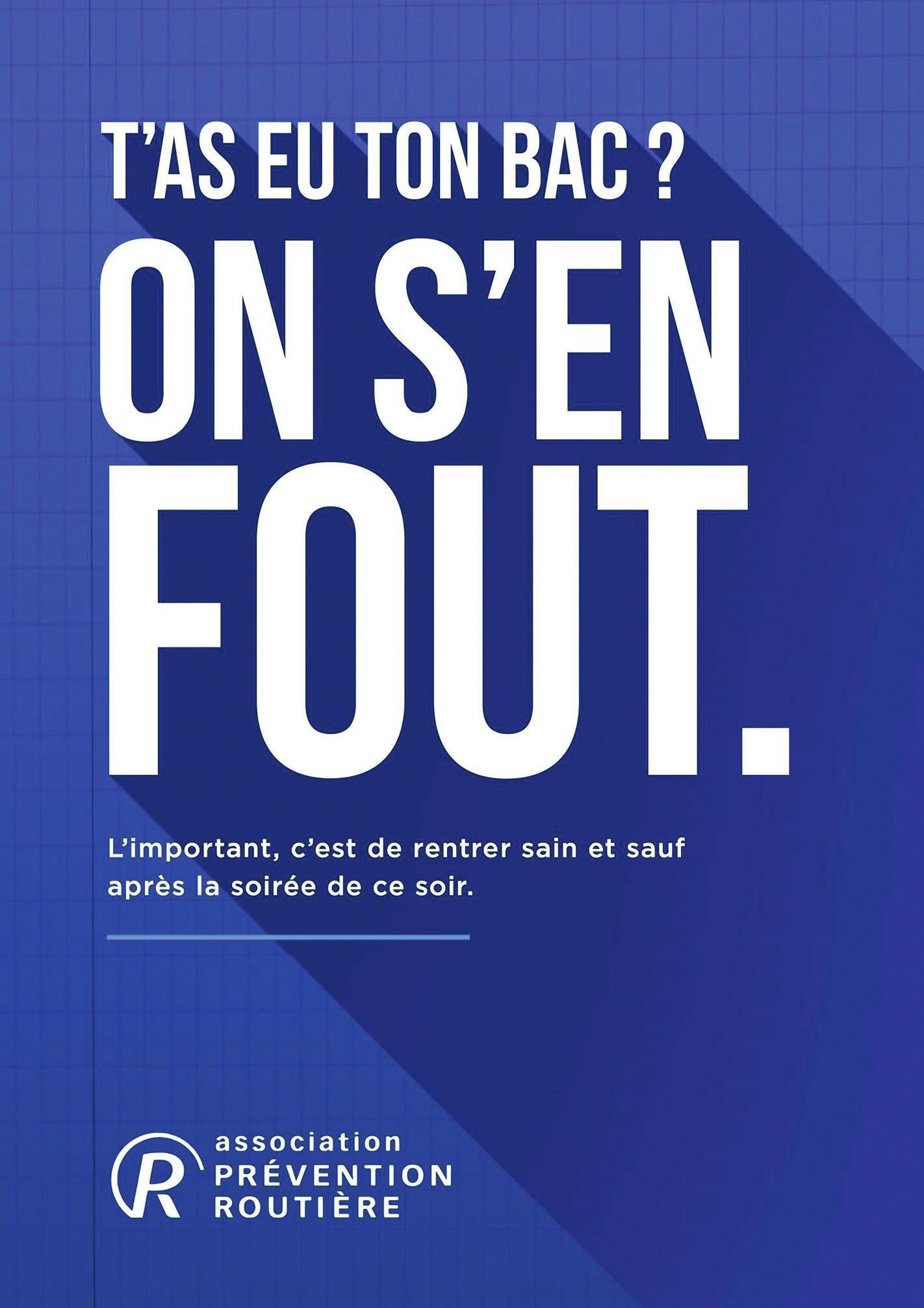 Affiche de l'Association de prévention routière.