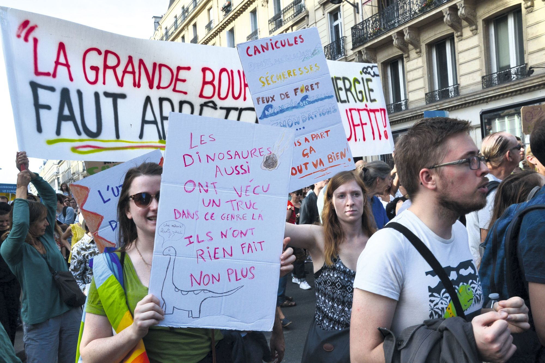 Marche pour le climat à Paris, le 13 octobre 2018.