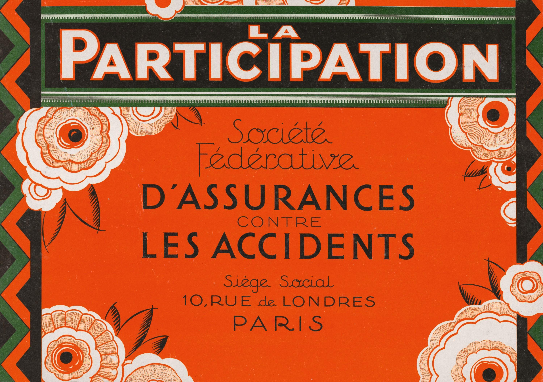 Publicité pour une compagnie d'assurance, vers 1900.