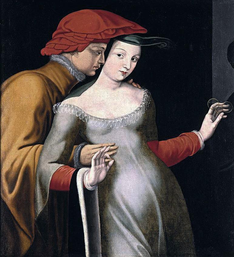 École de Fontainebleau, Les amants, deuxième moitié du XVIe siècle