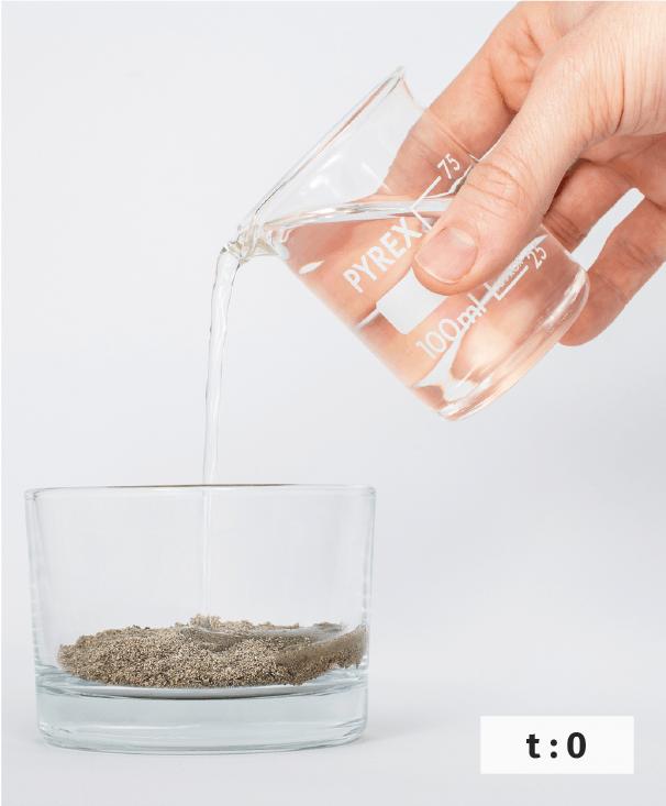 Modélisation de la cimentation d'un grès.