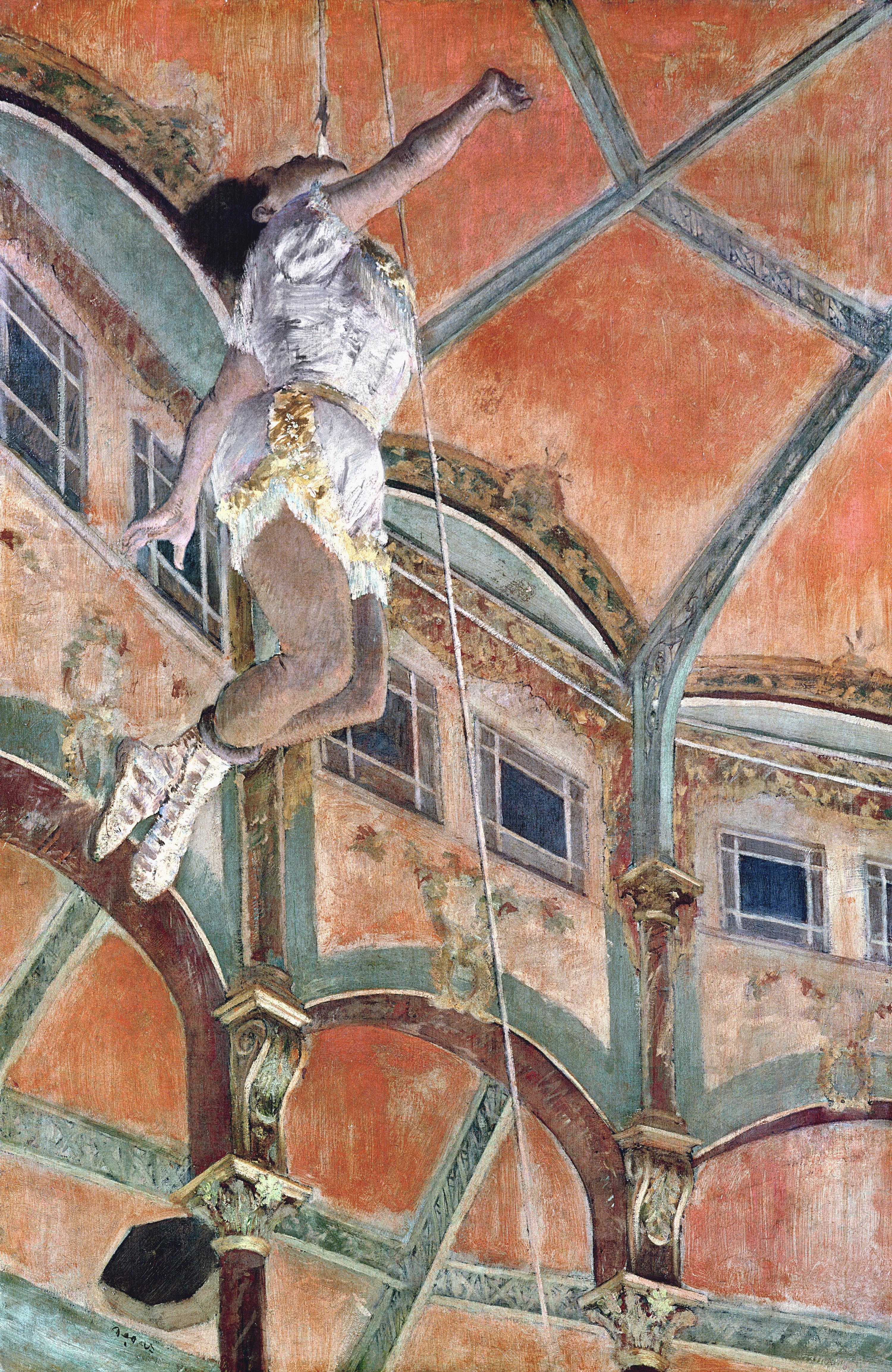 Mademoiselle Lala au cirque Fernando, Edgar Degas, 1879.