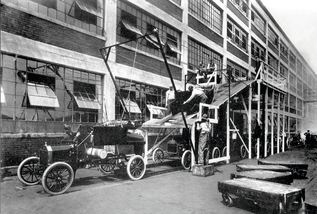 Chaîne de voitures pour la Ford T, Henry Ford