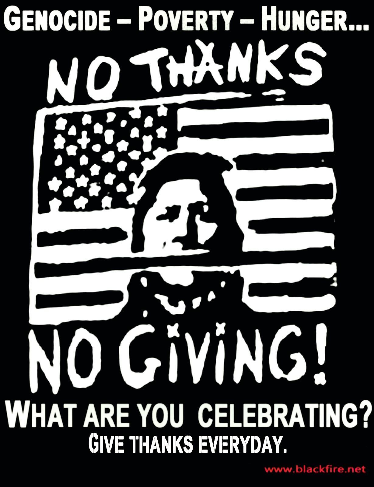No thanks, no giving!