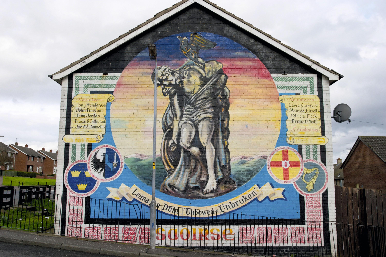 A mural in Belfast, 2015.