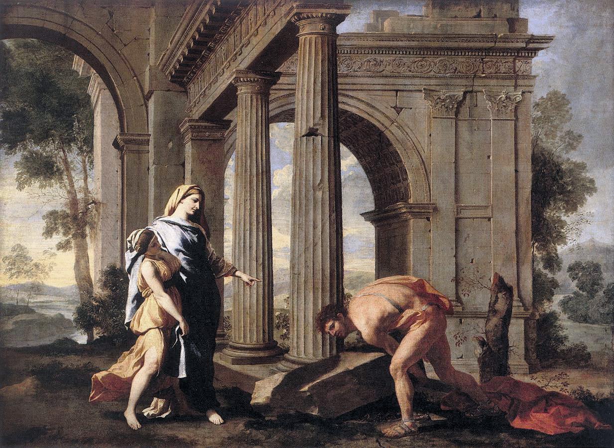 Nicolas Poussin,Thésée trouvant l'épée de son père, 1635