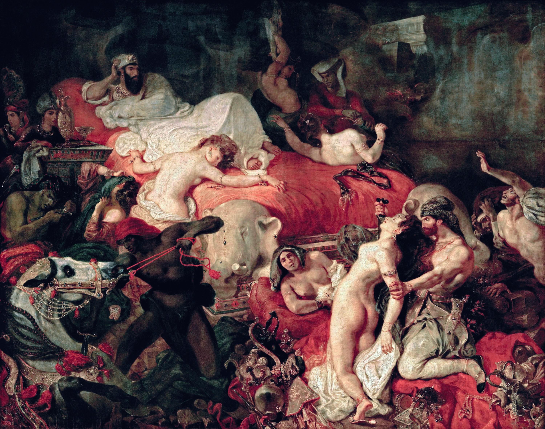 Eugène Delacroix, La Mort de Sardanapale, 1827, huile sur toile, 392 × 496 cm, musée du Louvre, Paris.