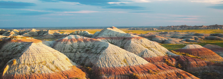 Vue sur le parc national des Badlands (États-Unis).