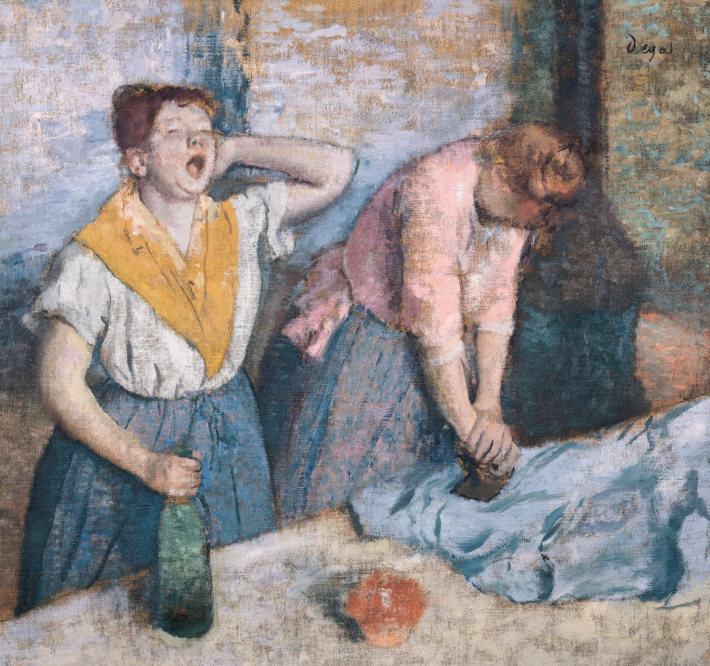 Edgar Degas, Repasseuses, 1884 - 1886, huile sur toile, 81,5 × 76 cm, musée d'Orsay, Paris.