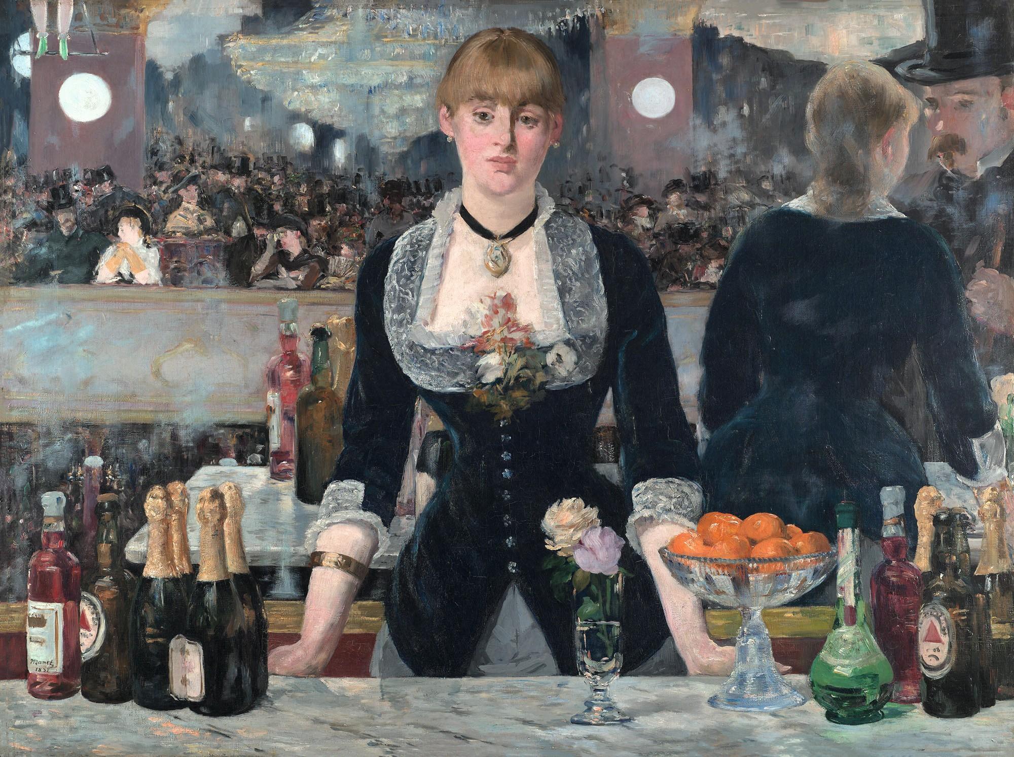 Édouard Manet, Un bar aux Folies Bergère, 1881 -1882, huile sur toile, 96 × 130 cm, galerie Courtauld, Londres.