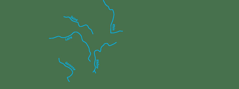 Cours d'eau majeurs : importante ressource en eau